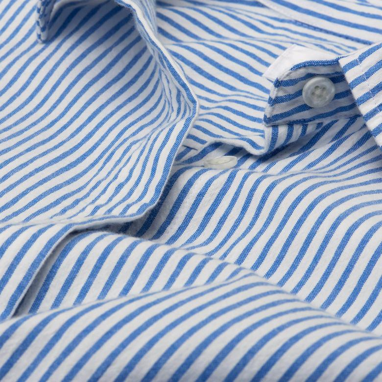 Gant Kadın Mavi Uzun Kollu Gömlek