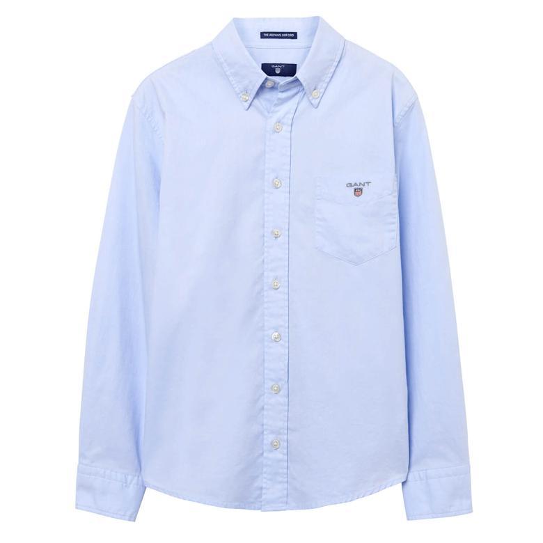 Gant Çocuk Mavi Uzun Kollu Gömlek