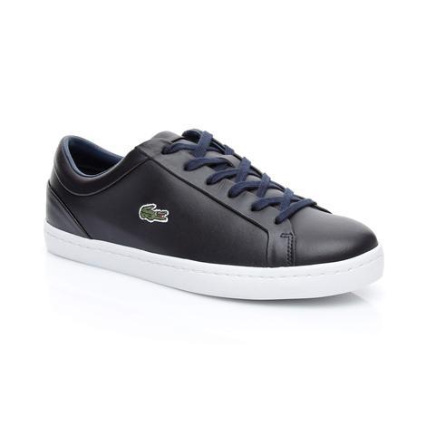 Lacoste Straightset Lace 317 3 Kadın Lacivert Sneaker