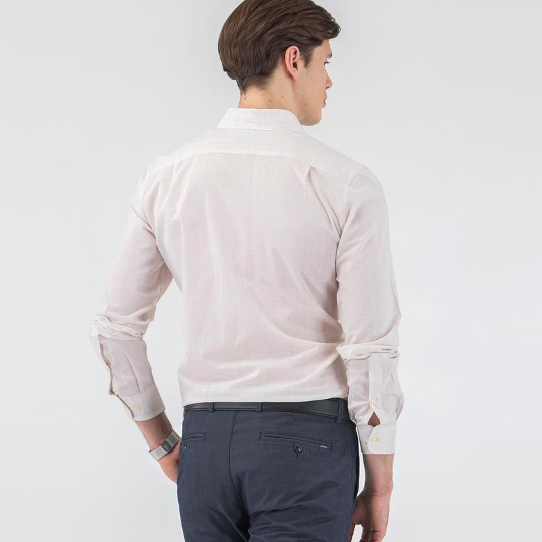 Lacoste Erkek Bej Slım Fit Uzun Kollu Gömlek