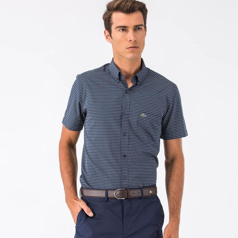 Lacoste Erkek Lacivert Kısa Kollu Regular Fit Gömlek