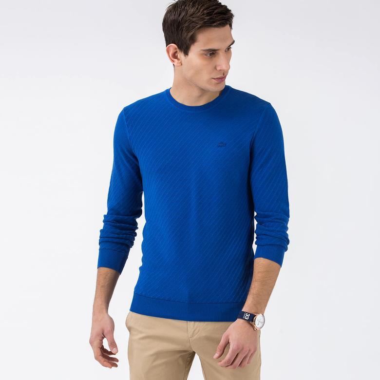 Lacoste Erkek Mavi Regular Fit Triko
