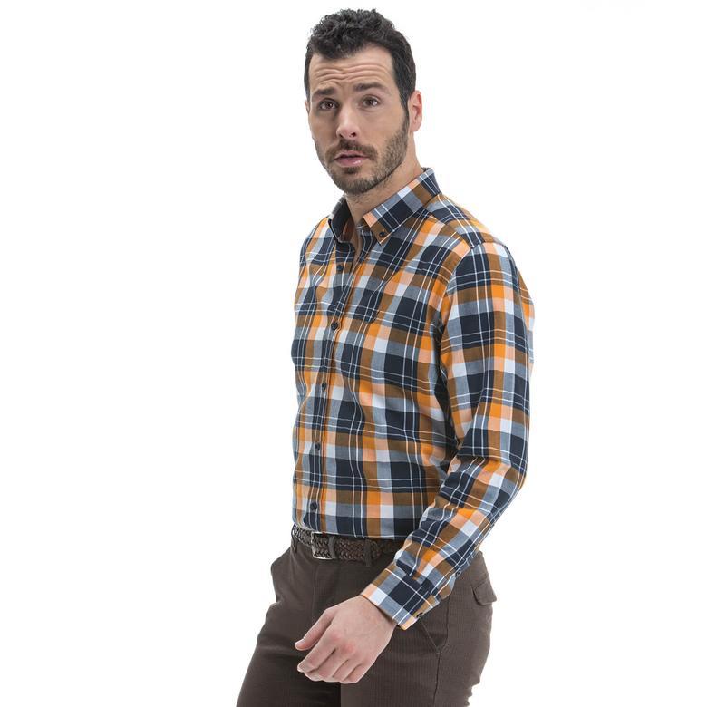 Nautica Erkek Renkli Uzun Kollu Custom Fit Gömlek