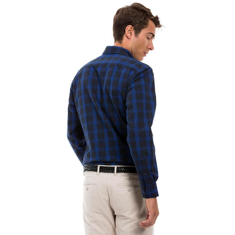 Nautica Erkek Lacivert Regular Fit Gömlek