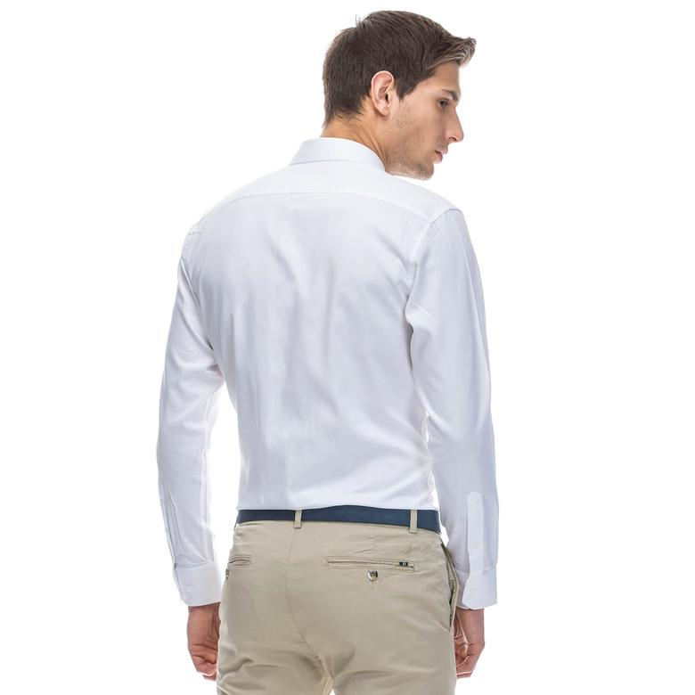 Nautica Erkek Beyaz Regular Fit Gömlek
