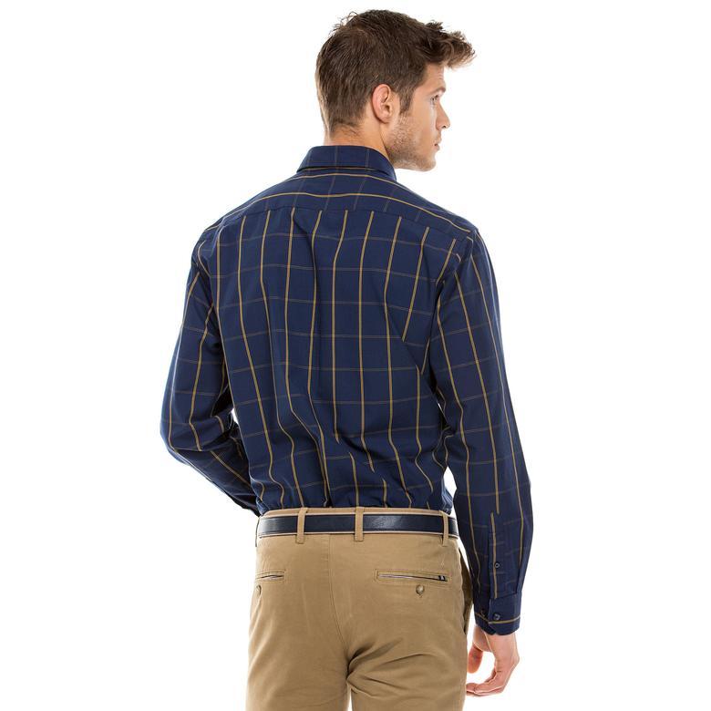 Nautica Erkek Lacivert Uzun Kollu Regular Fit Gömlek