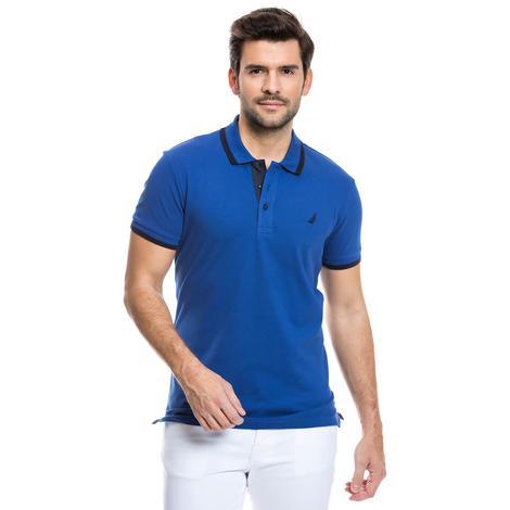 Nautica Kısa Kollu Erkek Regular Fit Mavi Polo