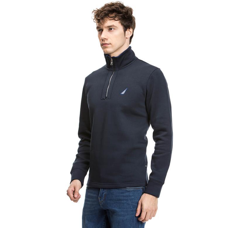 Nautica Erkek Lacivert Regular Fit Sweatshirt