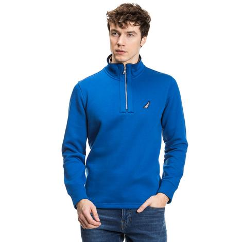 Nautica Erkek Mavi Regular Fit Sweatshirt