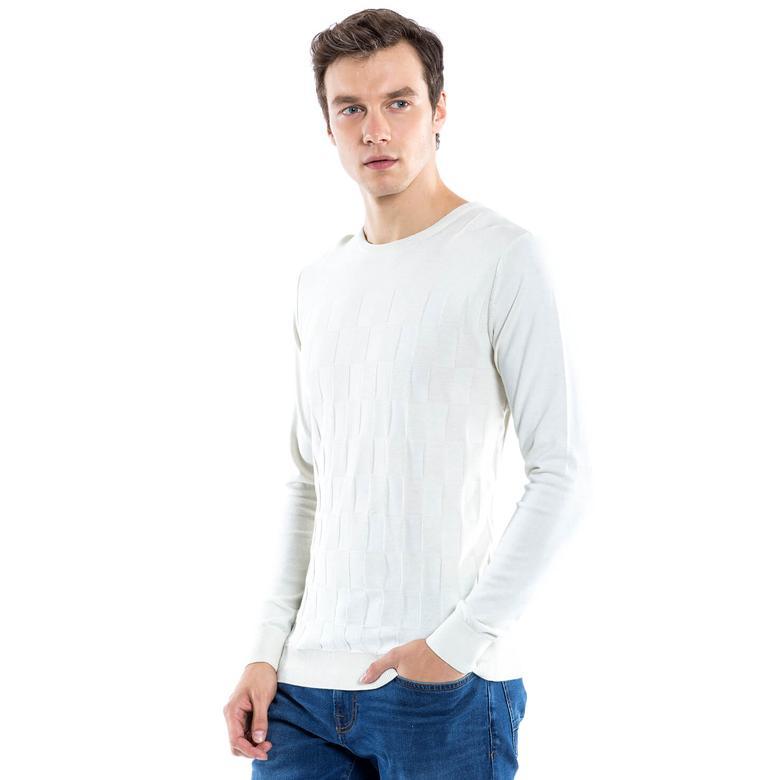 Nautica Erkek Beyaz Triko