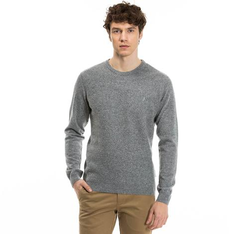 Nautica Erkek Gri Regular Fit Triko