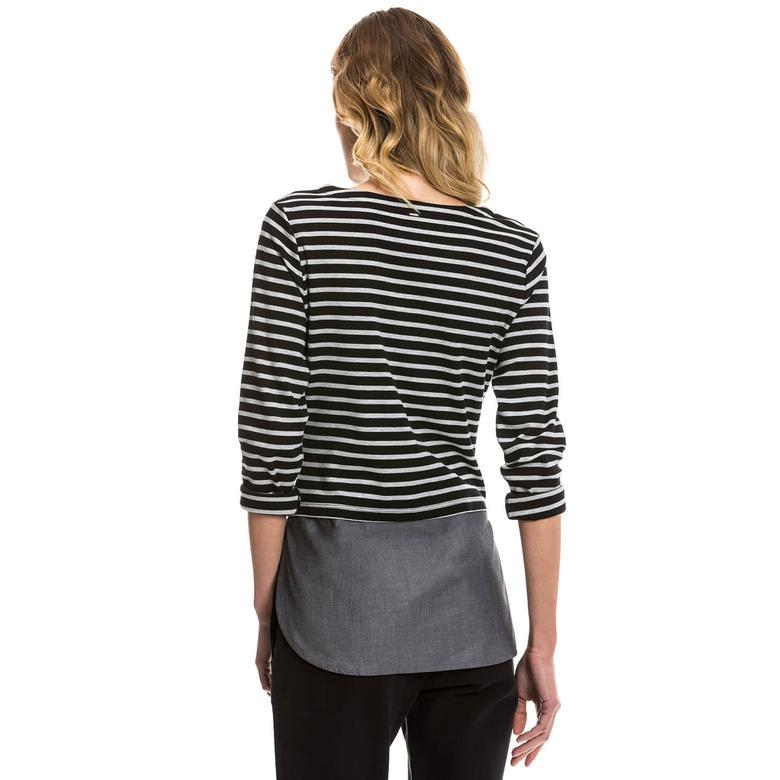 Nautica Kadın Siyah Regular Fit T-Shirt