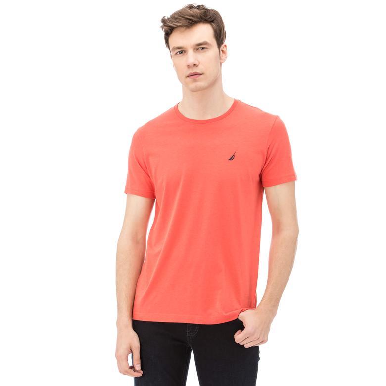 Nautica Erkek Turuncu Slim Fit T-Shirt