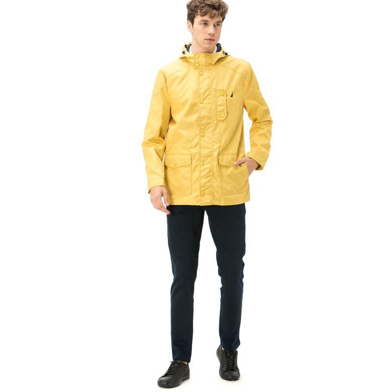 Nautica Erkek Sarı Regular Fit Mont
