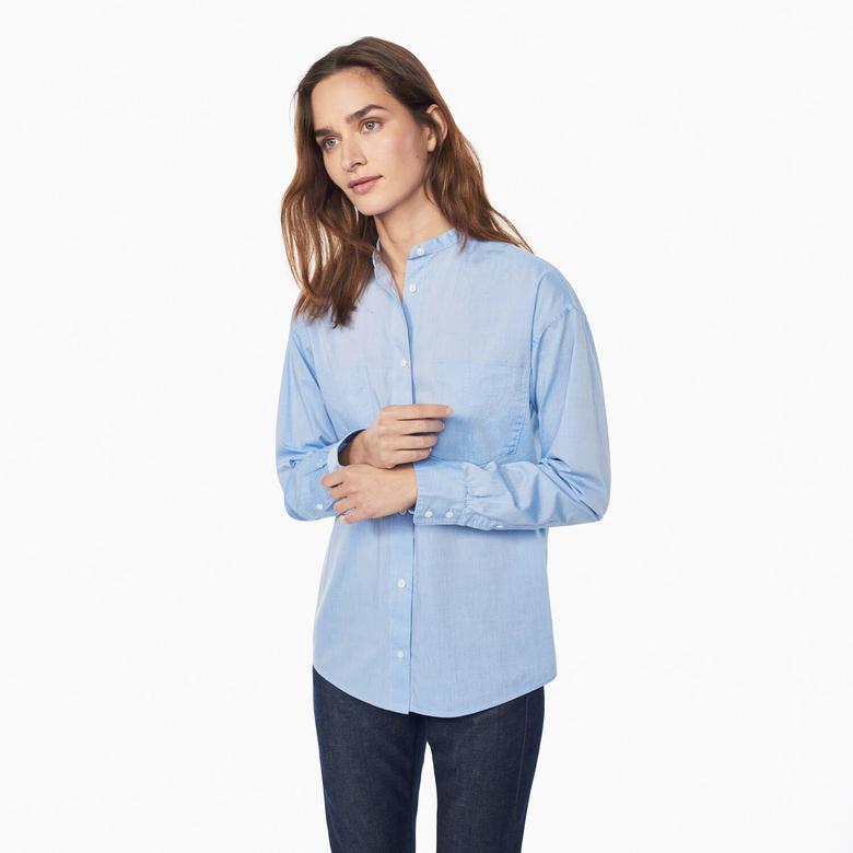 Gant Kadın Mavi Uzun Kollu Regular Fit Gömlek