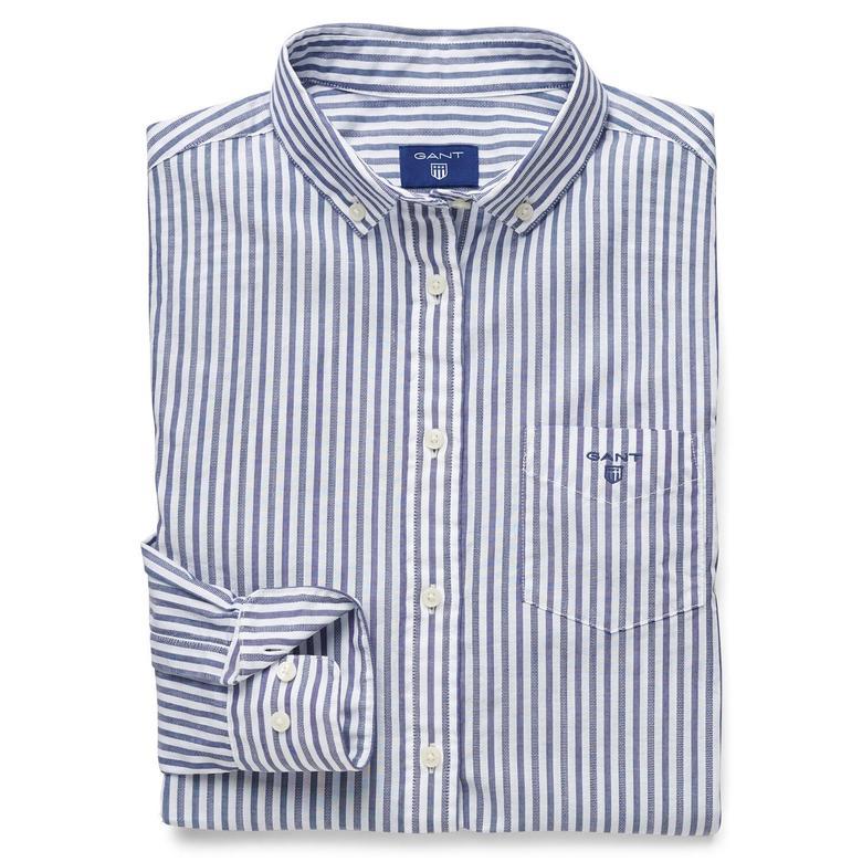 Gant Kadın Lacivert Uzun Kollu Regular Fit Gömlek