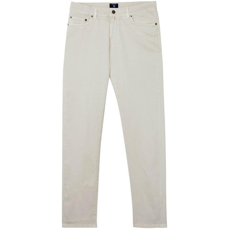 Gant Erkek Gri Slim Straight Pantolon