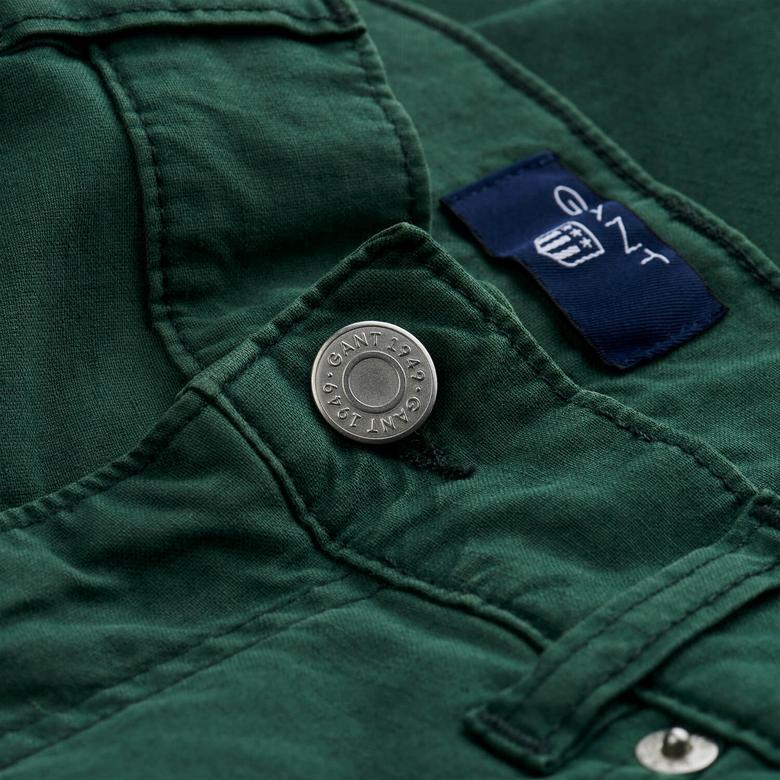 Gant Erkek Yeşil Regular Fit Pantolon