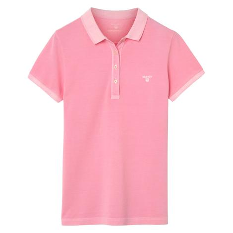 Gant Kadın Pembe Regular Fit Piqué Rugger Polo