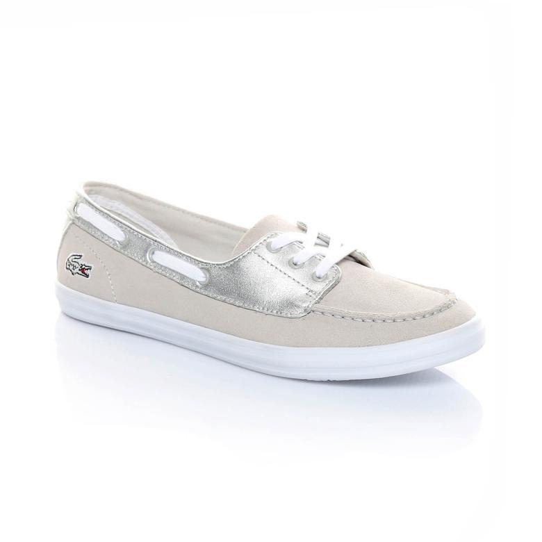 Lacoste Ziane Deck 116 1 Kadın Bej Sneaker