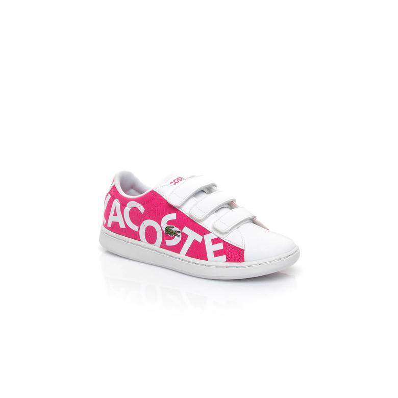 Lacoste Carnaby Evo Çocuk Pembe Sneaker Ayakkabı