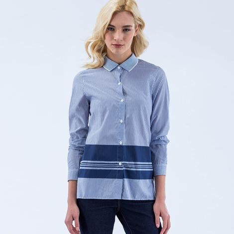 Lacoste Kadın Mavi Sportswear Gömlek