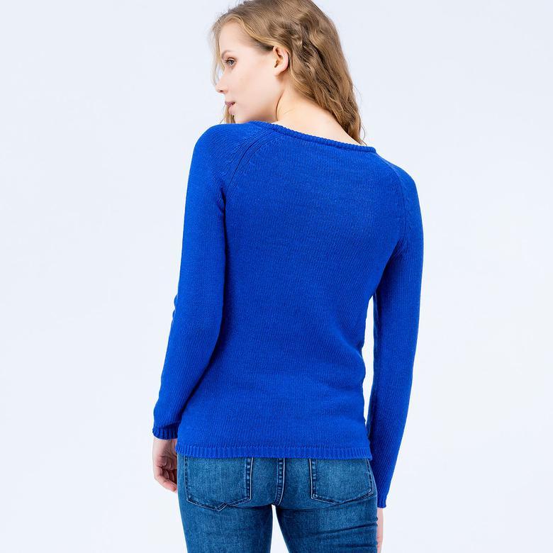 Lacoste Kadın Mavi Triko