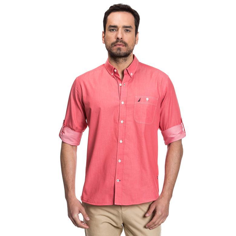 Nautica Erkek Kırmızı Slim Fit Gömlek