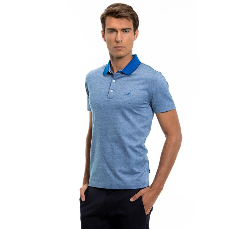 Nautica Erkek Mavi Kısa Kollu Polo