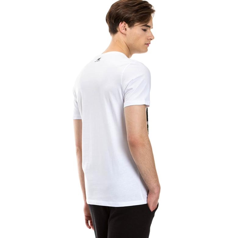 New Balance Erkek Beyaz Tshirt