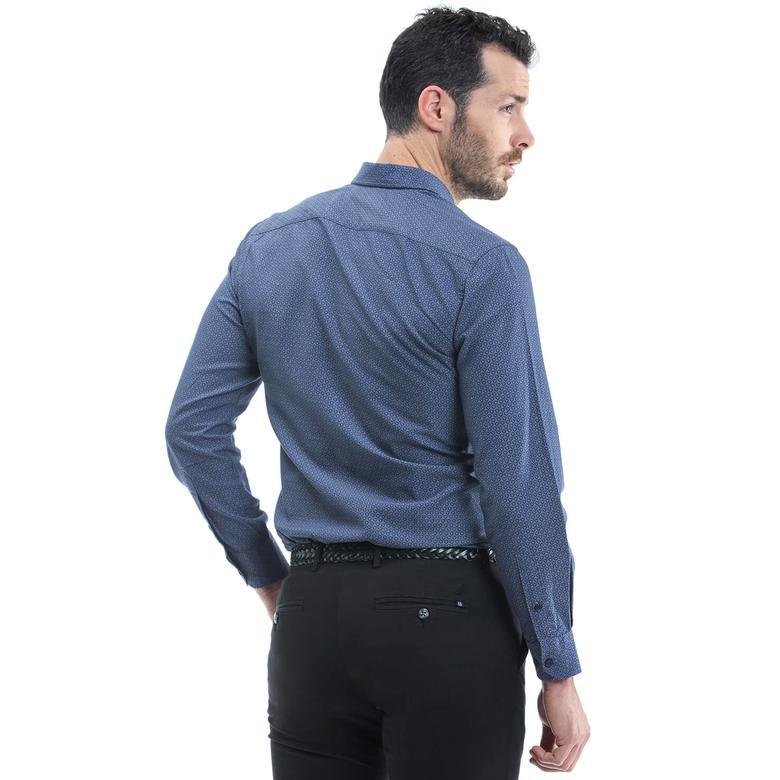 Nautica Erkek Lacivert Uzun Kollu Gömlek