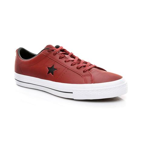 Converse One Star Unisex Bordo Sneaker