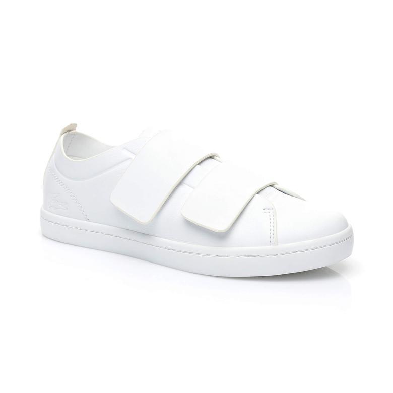 Lacoste Straightset Strap Kadın Beyaz Sneaker