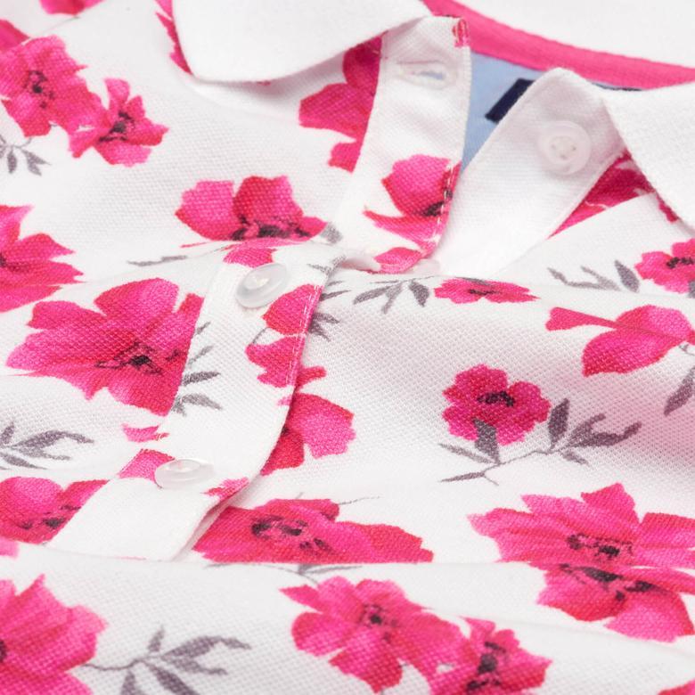 GANT Women's island Flower Pique Short Sleeve Polo