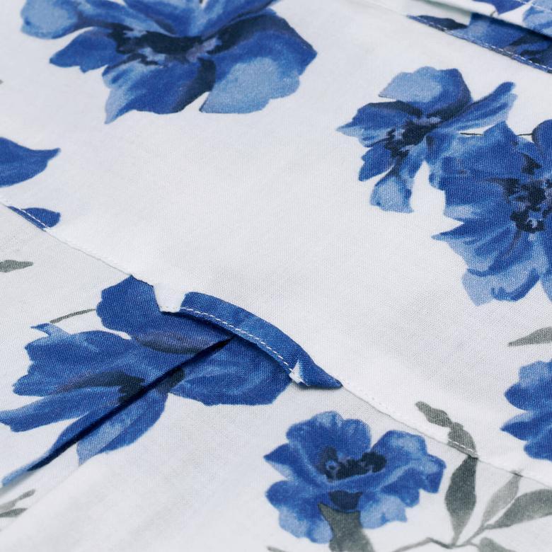 GANT Mavi Çiçek Desenli Bayan Gömlek