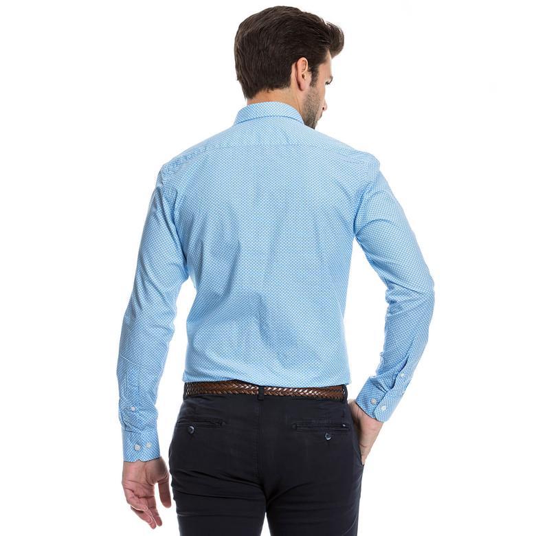 Nautica Erkek Mavi Gömlek