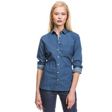 Nautica Kadın Mavi Uzun Kollu Regular Fit Gömlek