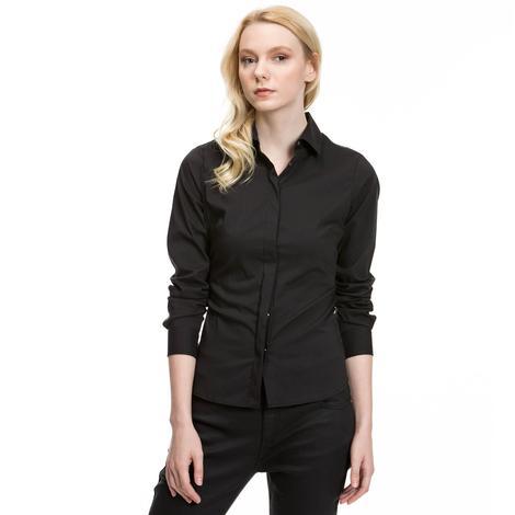 Nautica Kadın Siyah Uzun Kollu Regular Fit Gömlek