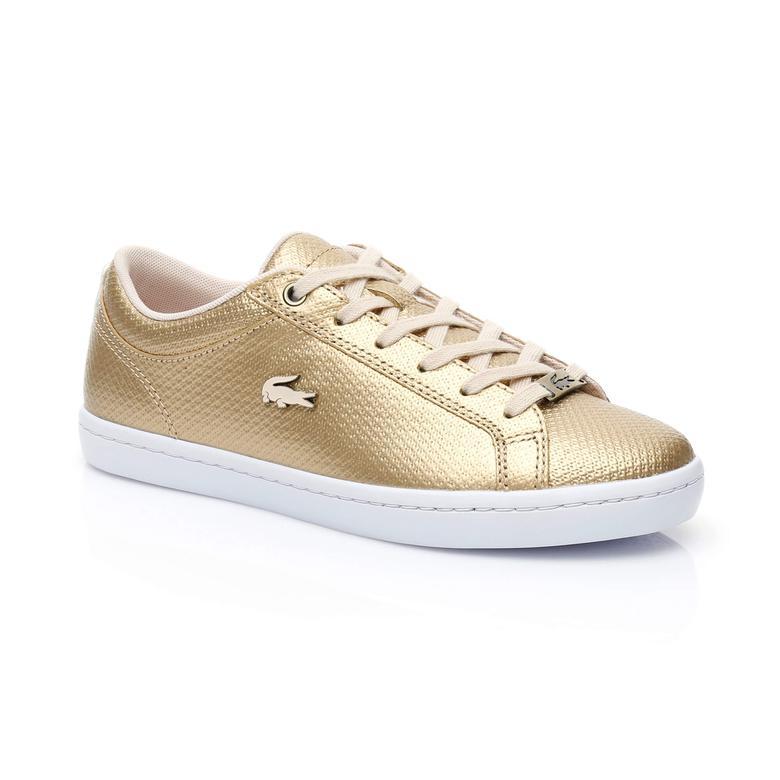 Lacoste Straightset Kadın Bronz Sneaker