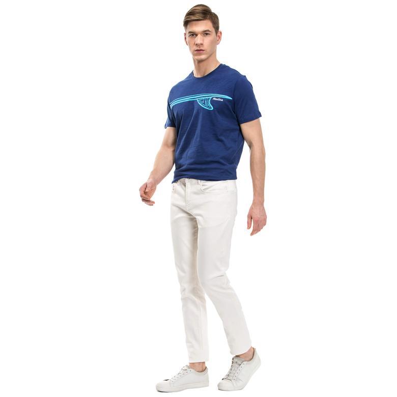 Nautica Erkek Beyaz Slim Fit Denim Pantolon