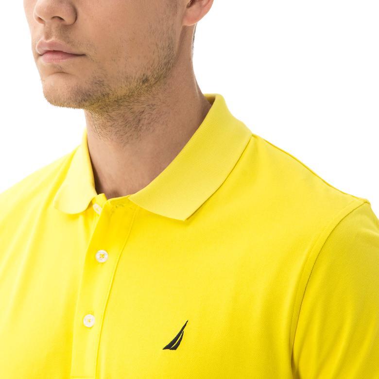 Nautica Erkek Sarı Kısa Kollu Slim Fit Polo