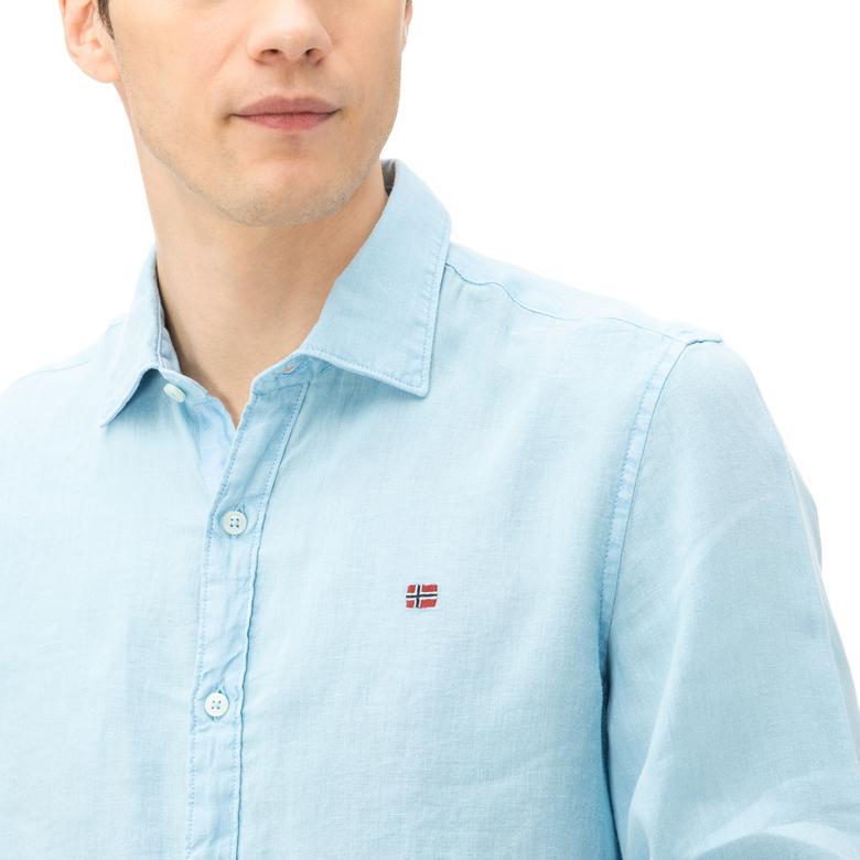 Napapijri Erkek Mavi Gömlek