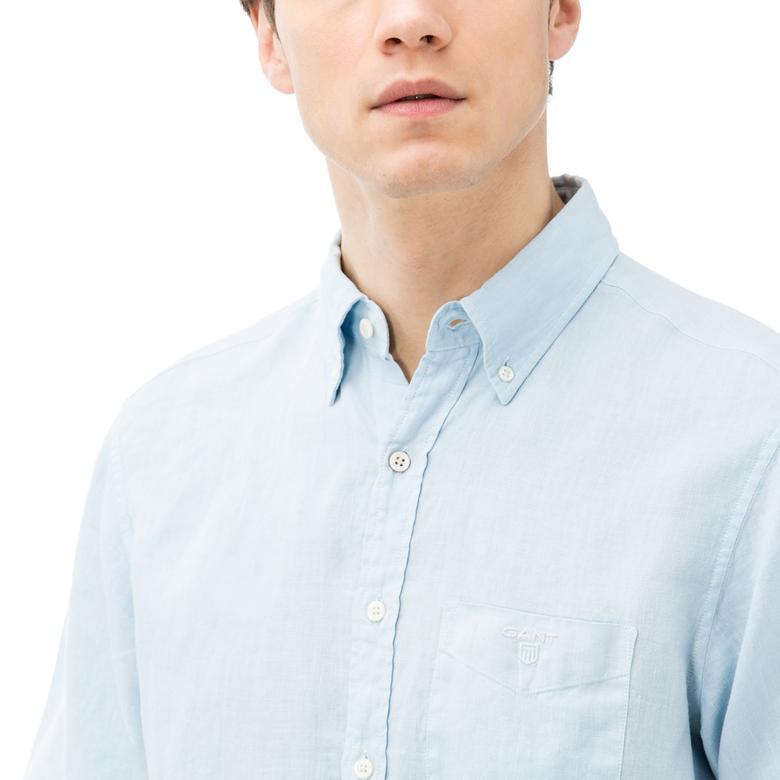 GANT Men's Regular Fit The Linen Shirt Short Sleeve Shirts