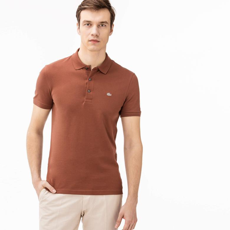 Lacoste Erkek Slim Fit Kahverengi Polo
