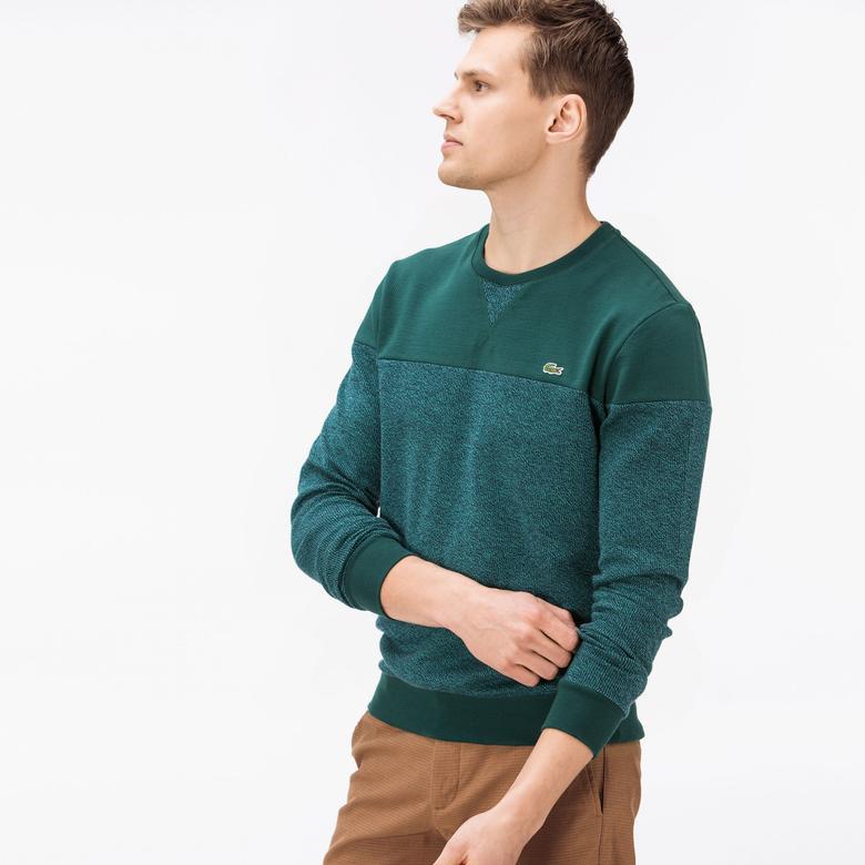 Lacoste Erkek Yeşil-Gri Sweatshirt
