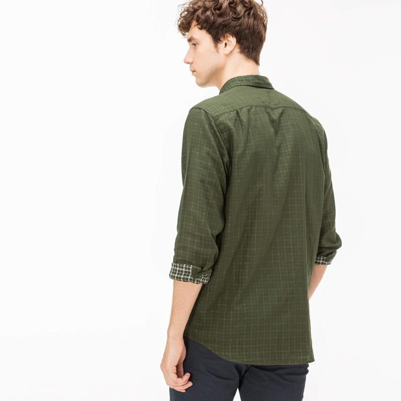Lacoste Erkek Regular Fit Yeşil Gömlek