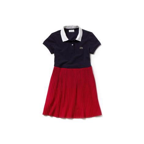 Lacoste Çocuk Lacivert-Kırmızı Elbise