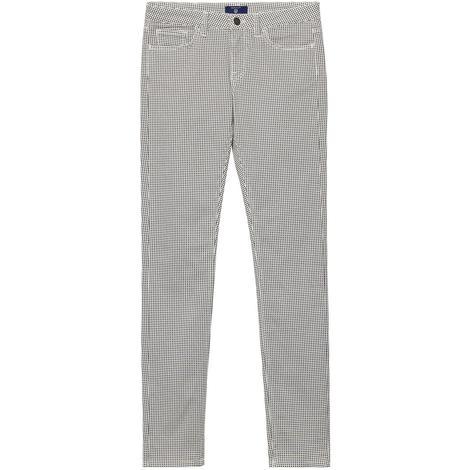 Gant Kadın Siyah-Beyaz Desenli Pantolon