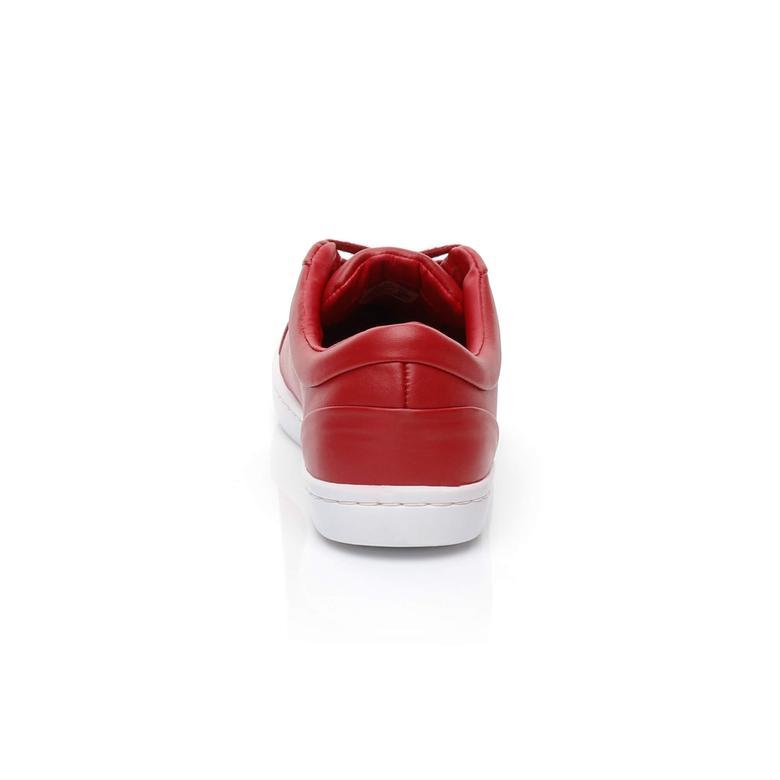 Lacoste Straightset Lace 317 3 Kadın Kırmızı Sneaker