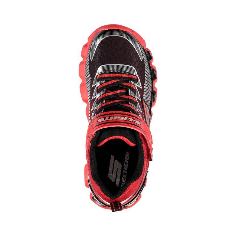 Skechers Flashpod Scoria Işıklı Çocuk Kırmızı Spor Ayakkabı